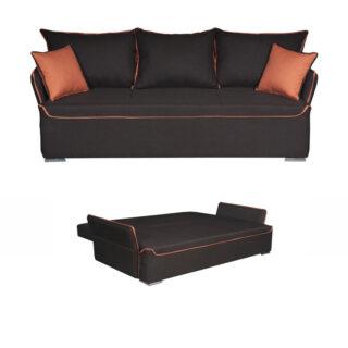 Καναπές κρεβάτι Bristol Καφέ , Fylliana έπιπλα