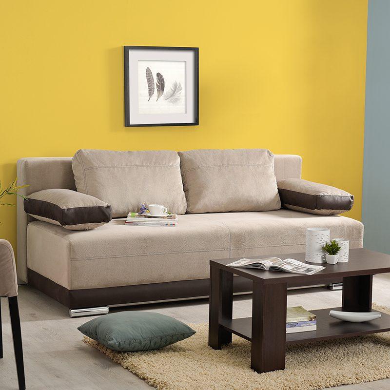 Έπιπλα-Artikia-Καναπές-Κρεβάτι-Kron-Μπέζ-με-Καφέ-δερματίνη-Brand-Fylliana 3