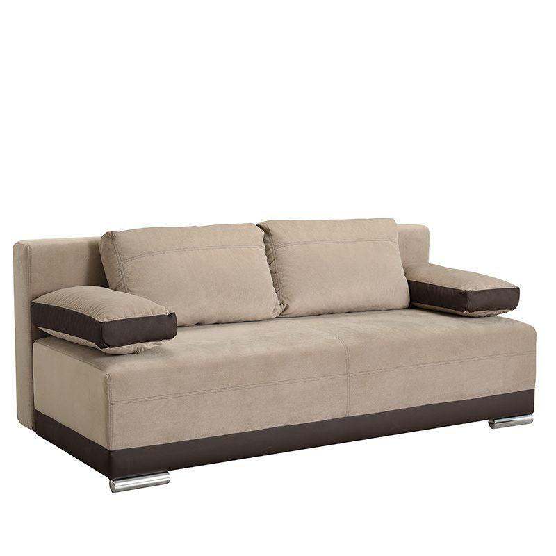 Έπιπλα-Artikia-Καναπές-Κρεβάτι-Kron-Μπέζ-με-Καφέ-δερματίνη-Brand-Fylliana 4