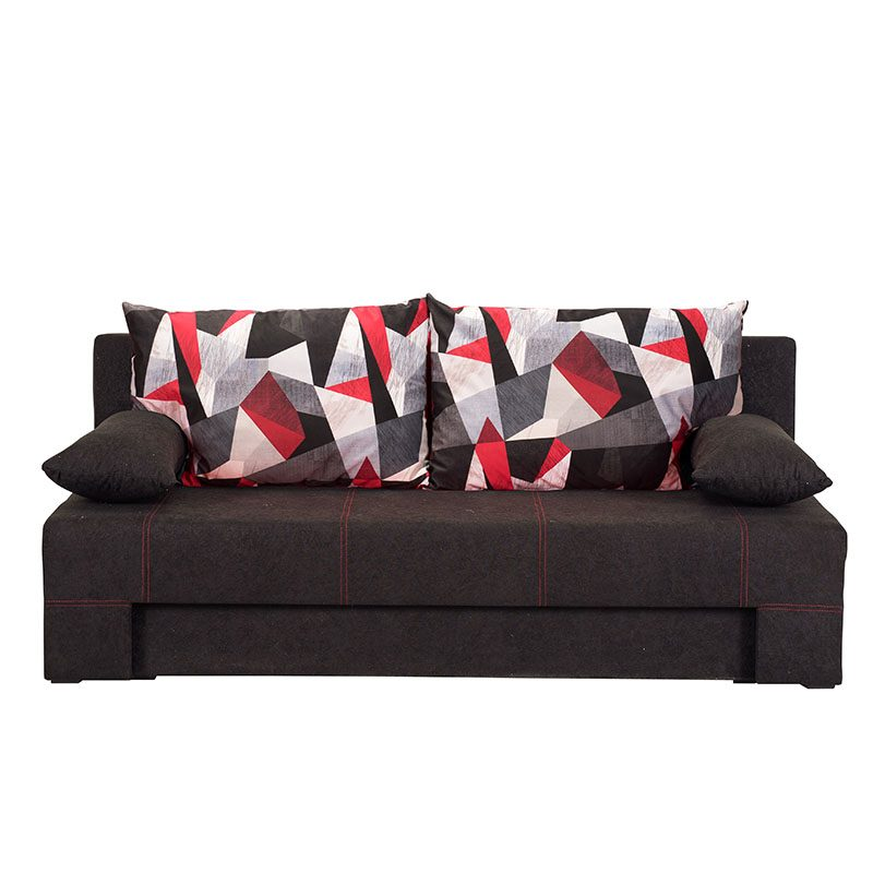 Artikia Καναπές Κρεβάτι Teo Μαύρος Brand Fylliana