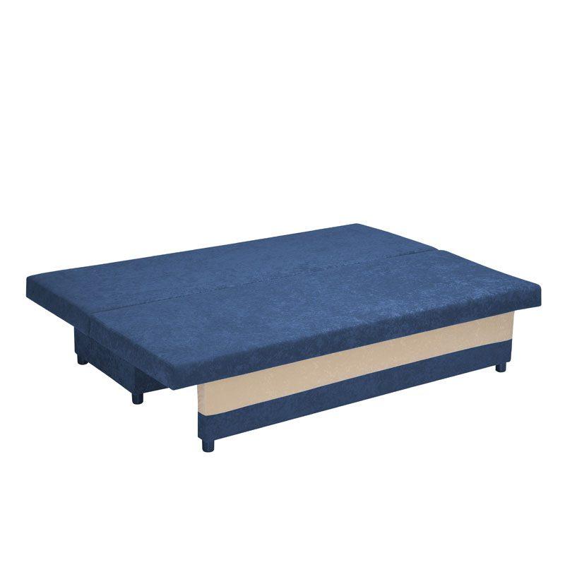 Artikia Καναπές κρεβάτι Greta Μπλέ με μπέζ μαξιλάρια Brand Fylliana 2