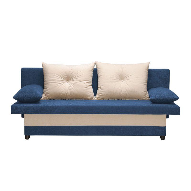Έπιπλα-Artikia-Καναπές-κρεβάτι-Greta-Μπλέ-με-μπέζ-μαξιλάρια-Brand-Fylliana