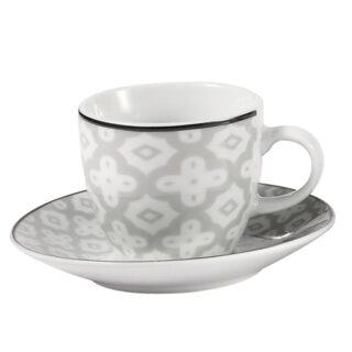Σετ φλυτζάνια καφέ Λευκό-Γκρί , Fylliana έπιπλα