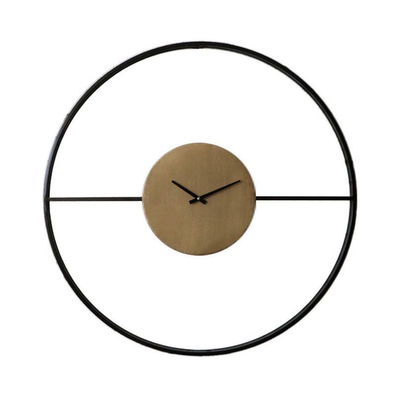 Έπιπλα Artikia Iron Ρολόι τοίχου Μαύρο D80cm Brand Maison